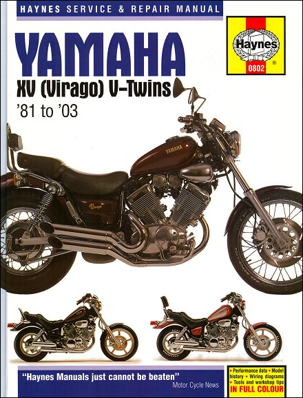 yamaha virago repair manual by haynes 1981 2003. Black Bedroom Furniture Sets. Home Design Ideas