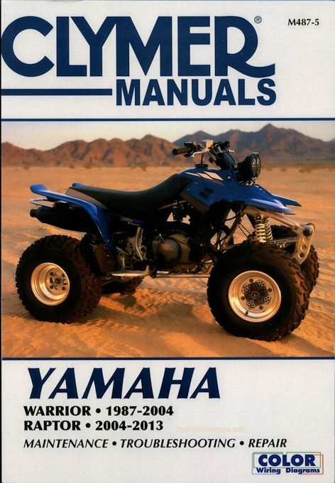 yamaha warrior raptor yfm350 atv repair manual 1987 2013 clymer rh themotorbookstore com yamaha warrior yfm 350 service repair manual yamaha warrior yfm 350 service repair manual