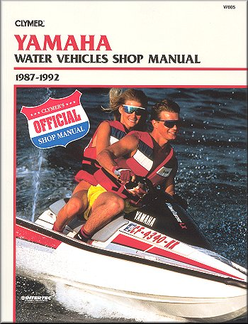 yamaha water vehicles shop manual by clymer 1987 1992 rh themotorbookstore com yamaha jet ski manuel yamaha jet ski xlt 1200 manual