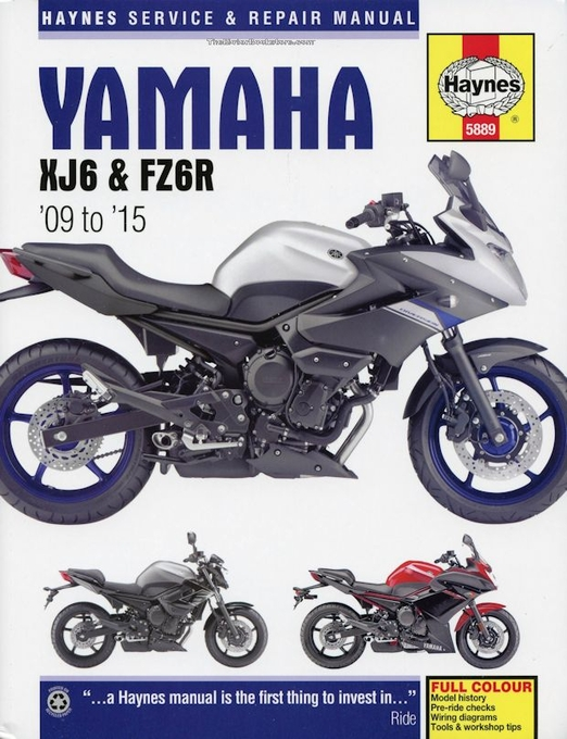 yamaha xj6 and fz6r repair manual 2009 2015 haynes 5889 rh themotorbookstore com yamaha xj6 repair manual yamaha xj6 service manual