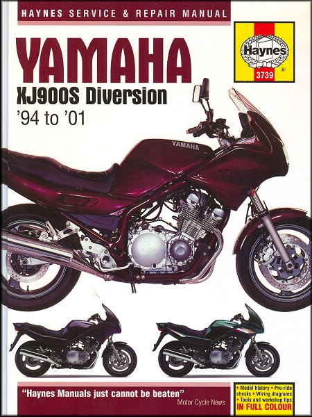 yamaha xj900s diversion repair manual 1994 2001 haynes 3739 rh themotorbookstore com service manual yamaha xj900 diversion yamaha xj900s diversion service manual