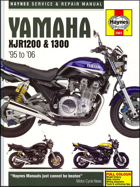 yamaha xjr1200 xjr1300 xjr1300s repair manual 1995 2006 rh themotorbookstore com motorcycle manual yamaha road star warrior motorcycle manual yamaha road star warrior