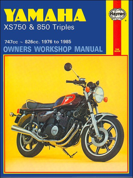 yamaha xs750 xs850 triple repair manual 1976 1985 26 yamaha xs750, xs850 triples repair manual 1976 1985 haynes 340 1975 xs650 wiring diagram at gsmx.co