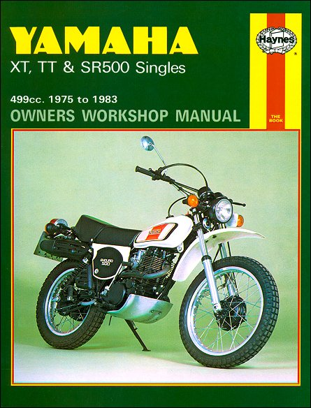 Yamaha Xt500  Tt500  Sr500 Repair Manual 1975