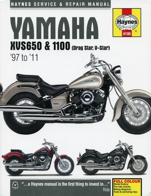 yamaha xvs 650 1100 drag star v star repair manual 1997 2011 rh themotorbookstore com