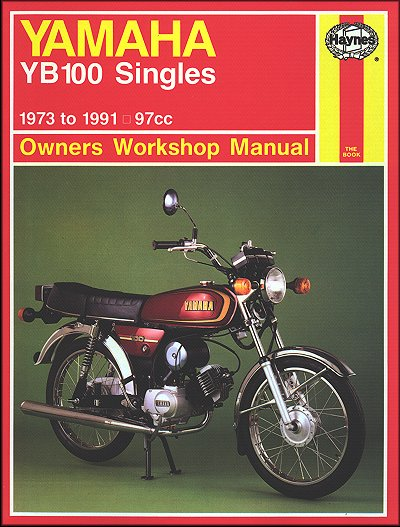 yamaha yb100 singles repair manual 1973 1991 haynes 474 rh themotorbookstore com yamaha yb 100 service manual free download yamaha yb100 haynes manual