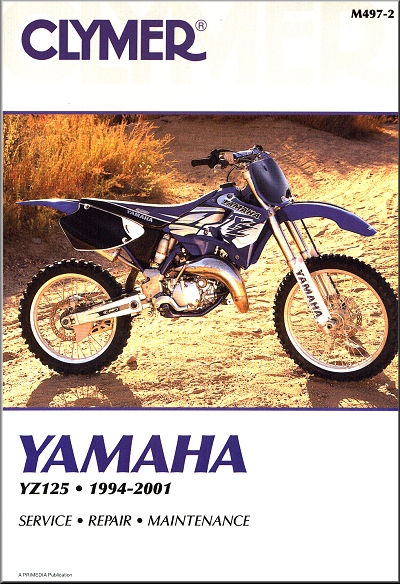 yamaha yz125 repair service manual 1994 2001 clymer m497 2. Black Bedroom Furniture Sets. Home Design Ideas