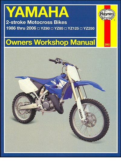 yamaha yz80 yz85 yz125 yz250 repair manual 1986 2006 haynes rh themotorbookstore com 2003 yz 125 repair manual 2003 yz 125 manual pdf