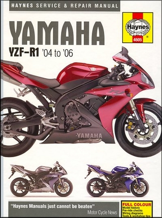 Yamaha YZF-R1, YZF-R1 SP Repair Manual 2004-2006