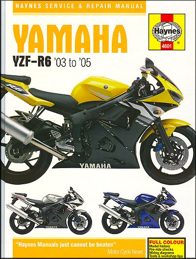 yamaha yzf r6 repair manual 2003 2005 haynes m4601 rh themotorbookstore com 2000 yamaha r6 repair manual 2003 yamaha r6 owners manual