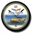 Yellow C6 Corvette Neon Clock, High Quality