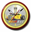Yellow Hot Rod Neon Clock, High Quality, 20 Inch