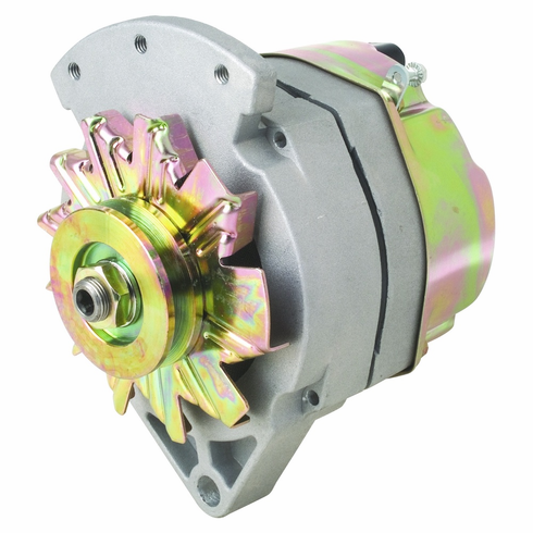 """100 Amp 2 Wire Delco Style Replacement Alternator with 1"""" Spool Mount Ear"""