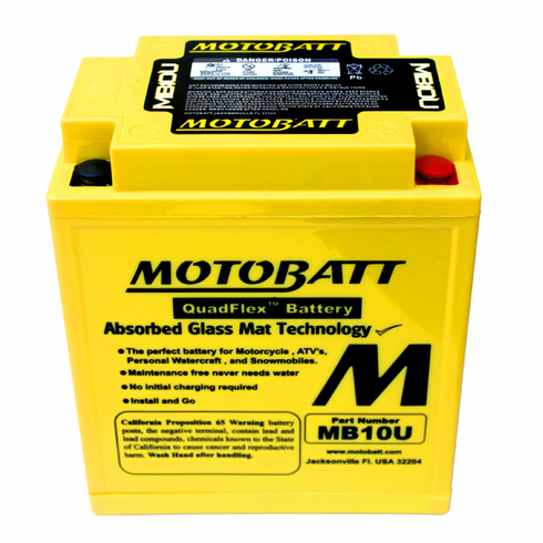 12N103A, 12N103A1, 12N103A2 Motobatt Replacement Battery