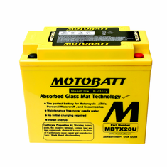 12N163A, 12N163B, 12N164A Motobatt Replacement Battery