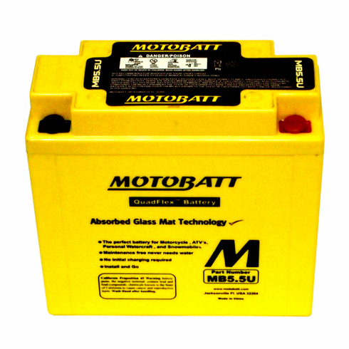 12N5.5-3B, 12N5.5-4A Motobatt Replacement Battery