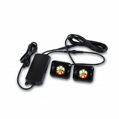 "2 AMBER/WHITE 1"" 18-WATT LED STROBE LIGHTS"