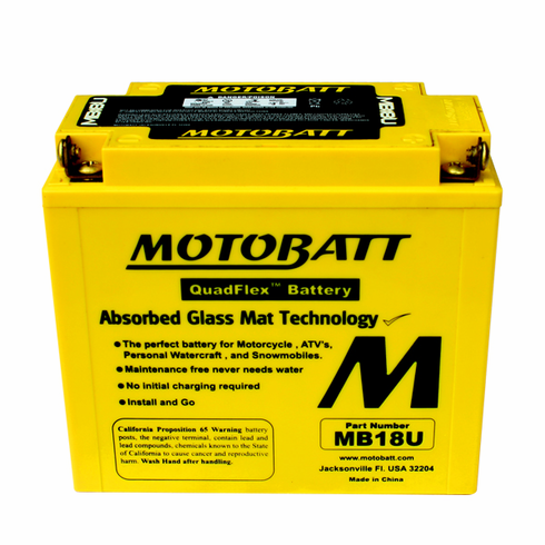 51815, YB18A, YB18LA, YB18LA2 Motobatt Replacement Battery