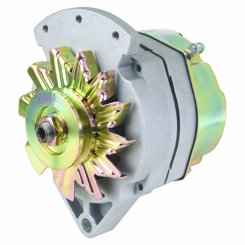 "61 Amp 1 Wire Delco Style Replacement Alternator with 1"" Spool Mount Ear"