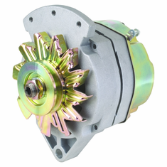 """61 Amp 1 Wire Delco Style Replacement Alternator with 1"""" Spool Mount Ear"""