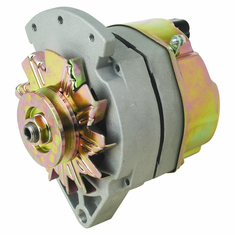 """61 Amp 2 Wire Delco Style Replacement Alternator with 1"""" Spool Mount Ear"""