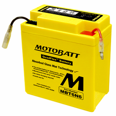 6N61B, 6N63B, 6N63B1, 6N61D, 6N61D2 Motobatt Replacement Battery