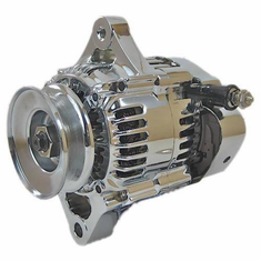 Chrome Nippondenso 1 Wire Race Car Alternator