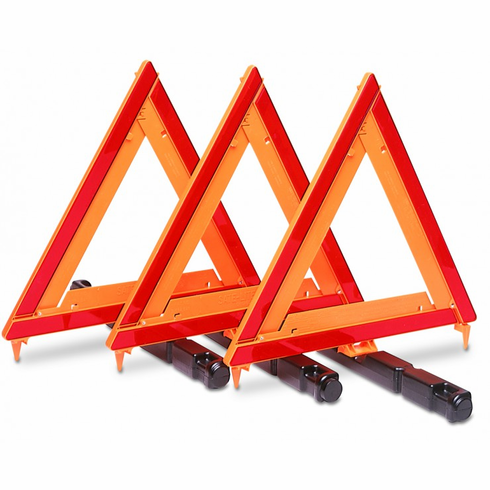 EMERGENCY WARNING TRIANGLE KIT (3 TRIANGLES)