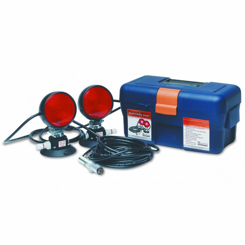 HEAVY DUTY SUCTION CUP TOW LIGHTS WITH CARRYING CASE