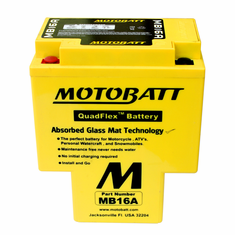 HYB16AA, HYB16A-AB Motobatt Replacement Battery