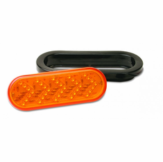 "LED 6.5"" OVAL AMBER LIGHT WITH SEQUENCING TURN SIGNAL"