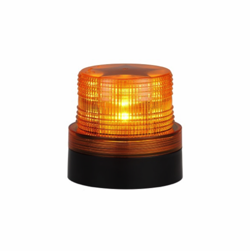 LED AMBER MAGNETIC BATTERY OPERATED FLASHING/ROTATING BEACON