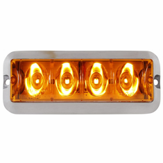 LED AMBER STROBE LIGHT WITH AMBER LENS