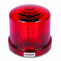 LED RED BATTERY OPERATED MAGNETIC ROTATING BEACON