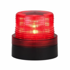 LED RED MAGNETIC BATTERY OPERATED FLASHING/ROTATING BEACON