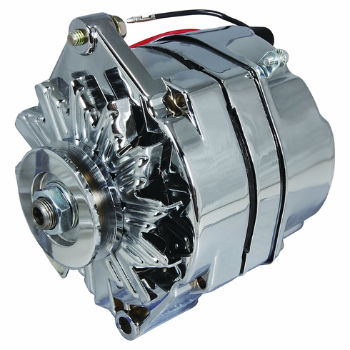 Mercury Marine Replacement 78402, 78403, A1, A2, 78477 - 94 Amp Chrome Alternator