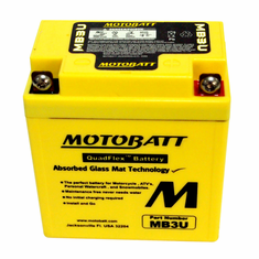 YB3L-A, YB3L-B Motobatt Replacement Battery