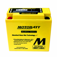YT14BBS, YT14B4 Motobatt Replacement Battery