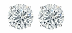 .25 TCW Diamond Stud Solitaire White Gold Earrings 3PE25WG