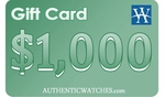 AuthenticWatches.com $1000 Gift Card