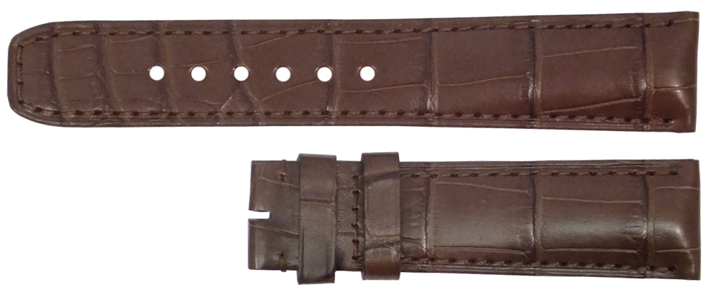 Image of Baume et Mercier 20mm Brown Alligator Strap MX0034GG