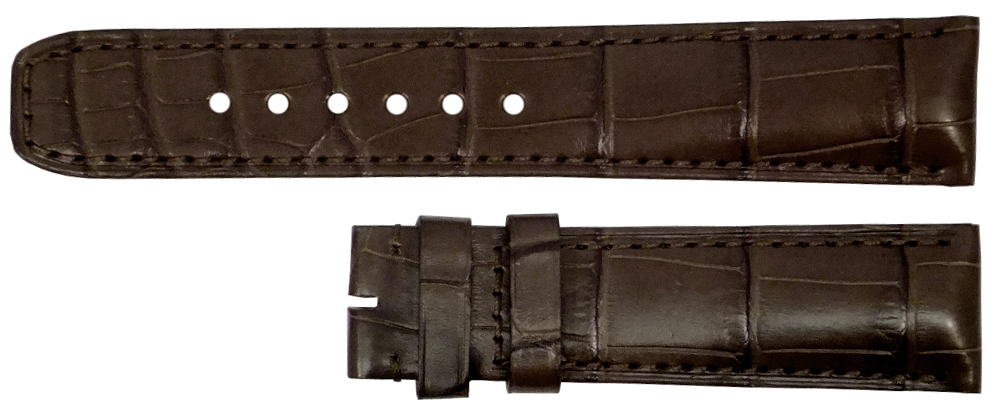 Image of Baume et Mercier 25mm Dark Brown Alligator Strap MX0030GC