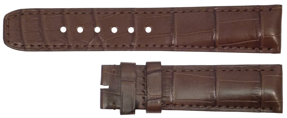 Image of Baume et Mercier 28mm Brown Crocodile Strap MX006T3M