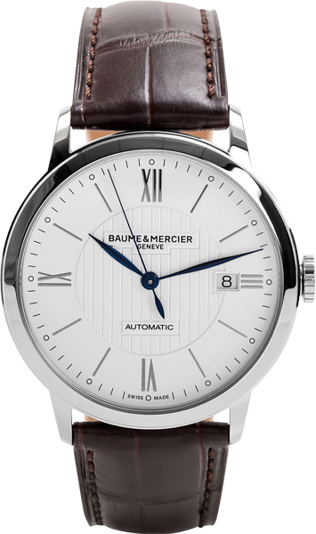 moa10214 baume mercier classima mens 40mm automatic watch brand new. Black Bedroom Furniture Sets. Home Design Ideas