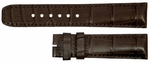 Baume et Mercier 20mm Dark Brown Alligator Strap MX008TNB