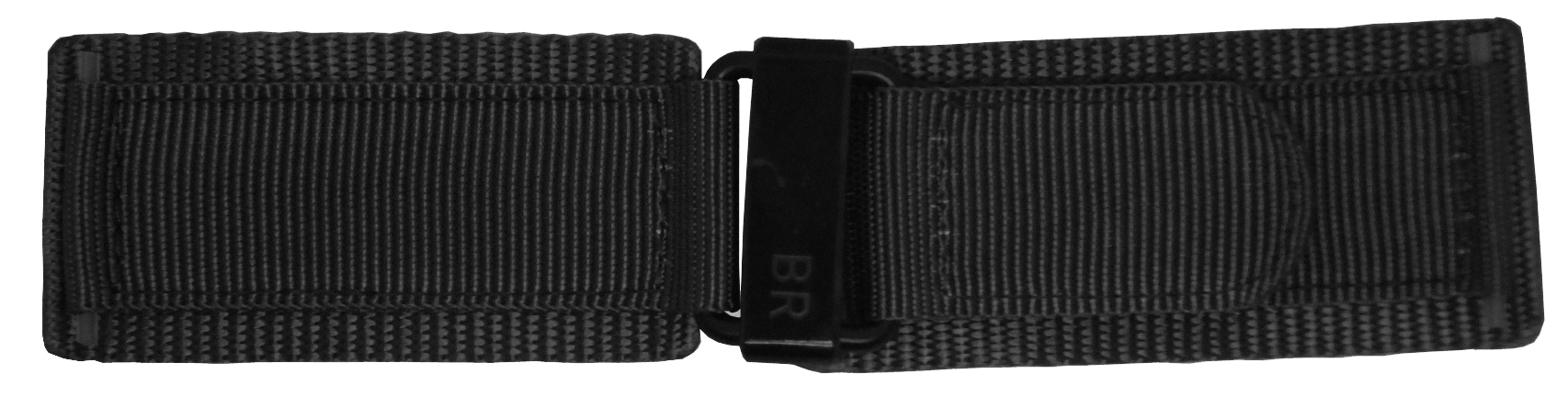 Image of Bell & Ross 24mm Black Canvas Strap 24-6-BLKC-BV