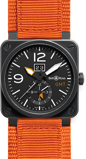 Bell & Ross Aviation BR0351-GMT-CA