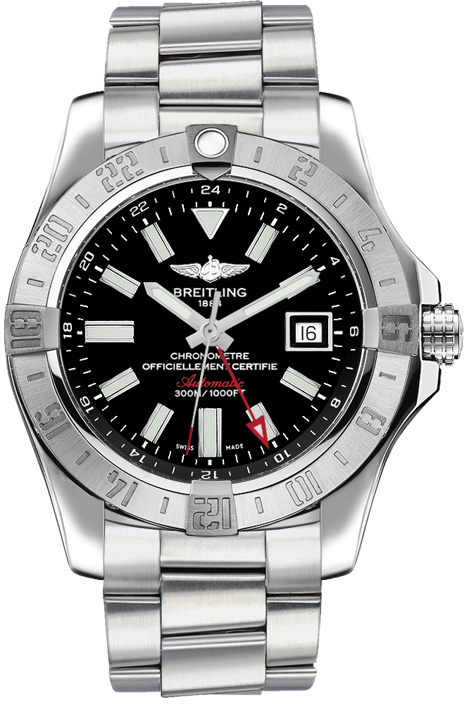 A3239011 bc35 173a breitling avenger ii gmt men steel watch for Avenger watches