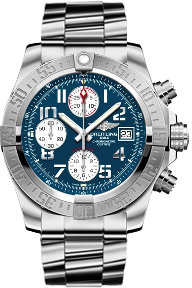 A1338111 c870 170a breitling avenger ii blue mens watch for Avengers watches