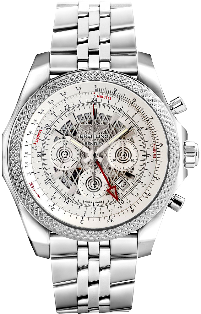 stainless silver breitling bentley men dial watch automatic mens britling steel s